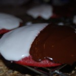 Black & White Red Velvet Cookies