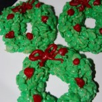 Rice Krispy Christmas Wreaths