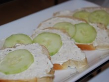 Elegant & Updated Cucumber Sandwiches