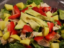 California Chicken Salad with Balsamic Poppy Seed Dressing