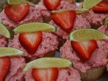 Strawberry Limeade Cupcakes