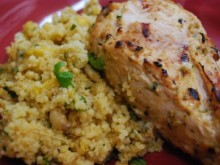 Herbed Yogurt Chicken with Mango Couscous