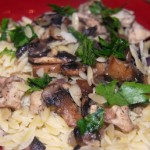 Chicken, Mushroom & Parmesan with Orzo