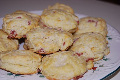 Salami Four Cheese Biscuits