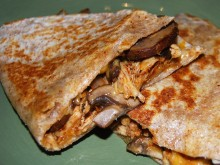 Healthy Chicken Mushroom Quesadillas