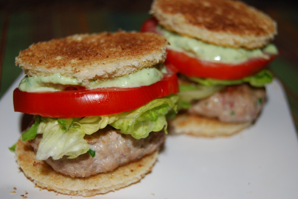 Club Burger Sliders with Avocado Ranch Dressing