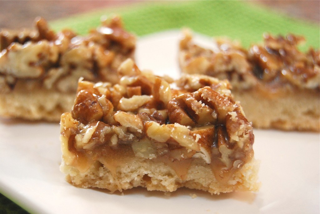 Pecan Pie Bars Pecan pie bars popped up