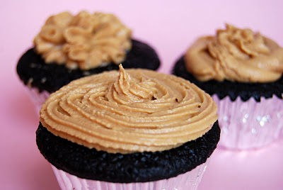 One Bowl Chocolate Cupcakes with Peanut Butter Frosting