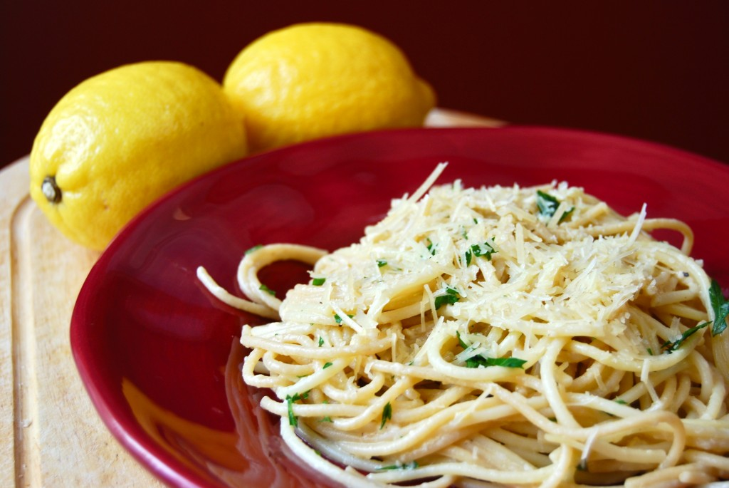 Spaghetti with Lemon & Olive Oil (al Limone) - Macaroni and Cheesecake
