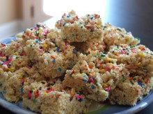 Cake Batter Krispy Treats