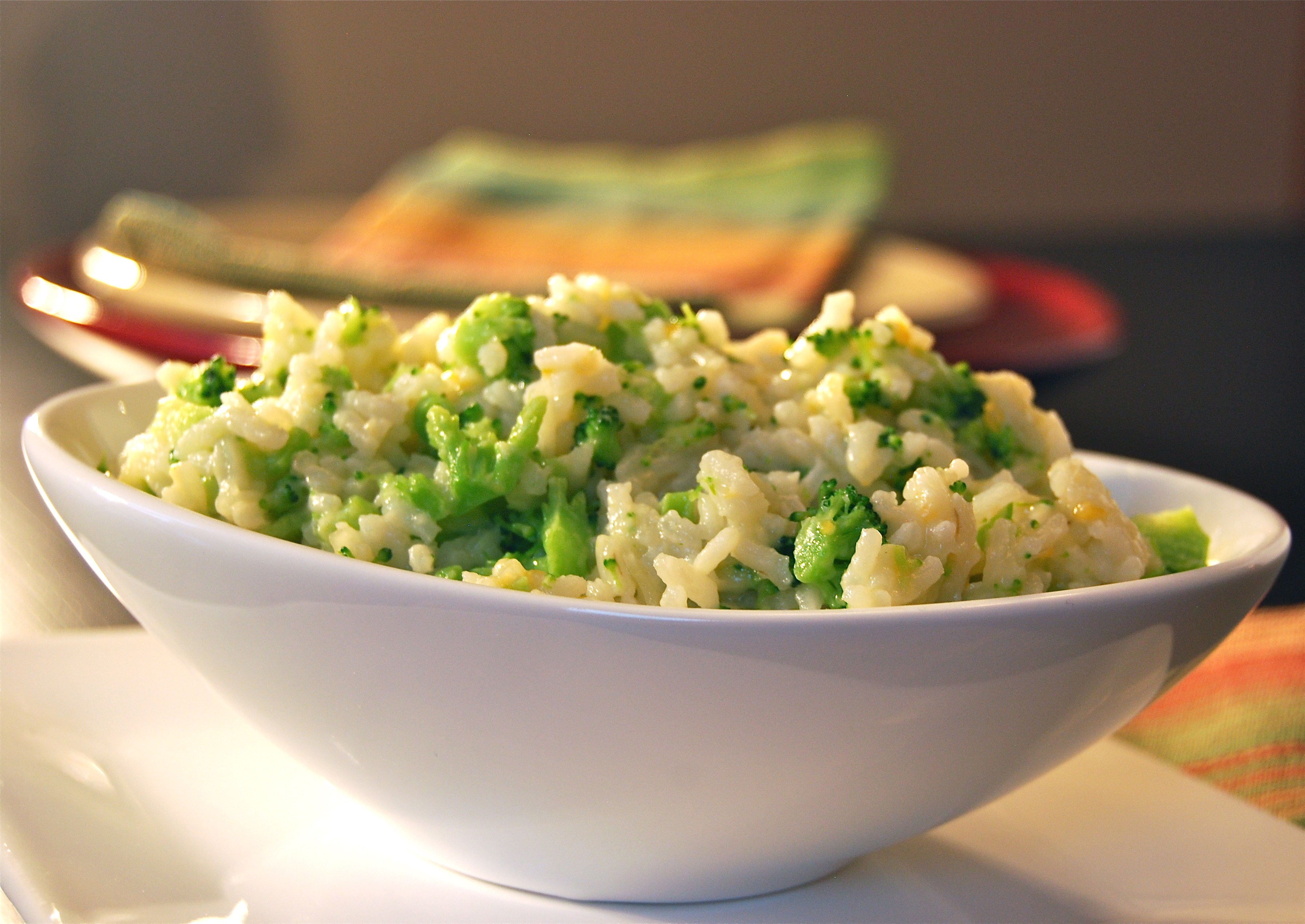 Cheesy Rice With Broccoli