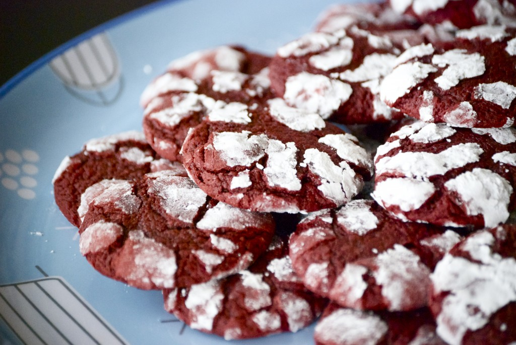 Red Velvet Crinkle Cookies Recipe — Dishmaps