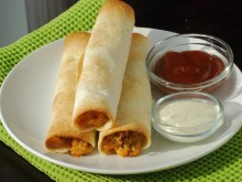 Baked BBQ Chicken Taquitos