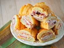 Turkey Cranberry Croissants
