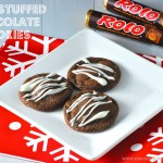 Rolo Stuffed Chocolate Cookies