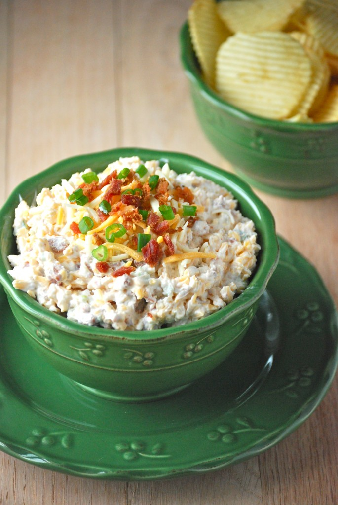 Ranch Loaded Baked Potato Dip - Macaroni and Cheesecake
