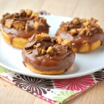 Baked Chocolate Glazed Peanut Butter Donuts