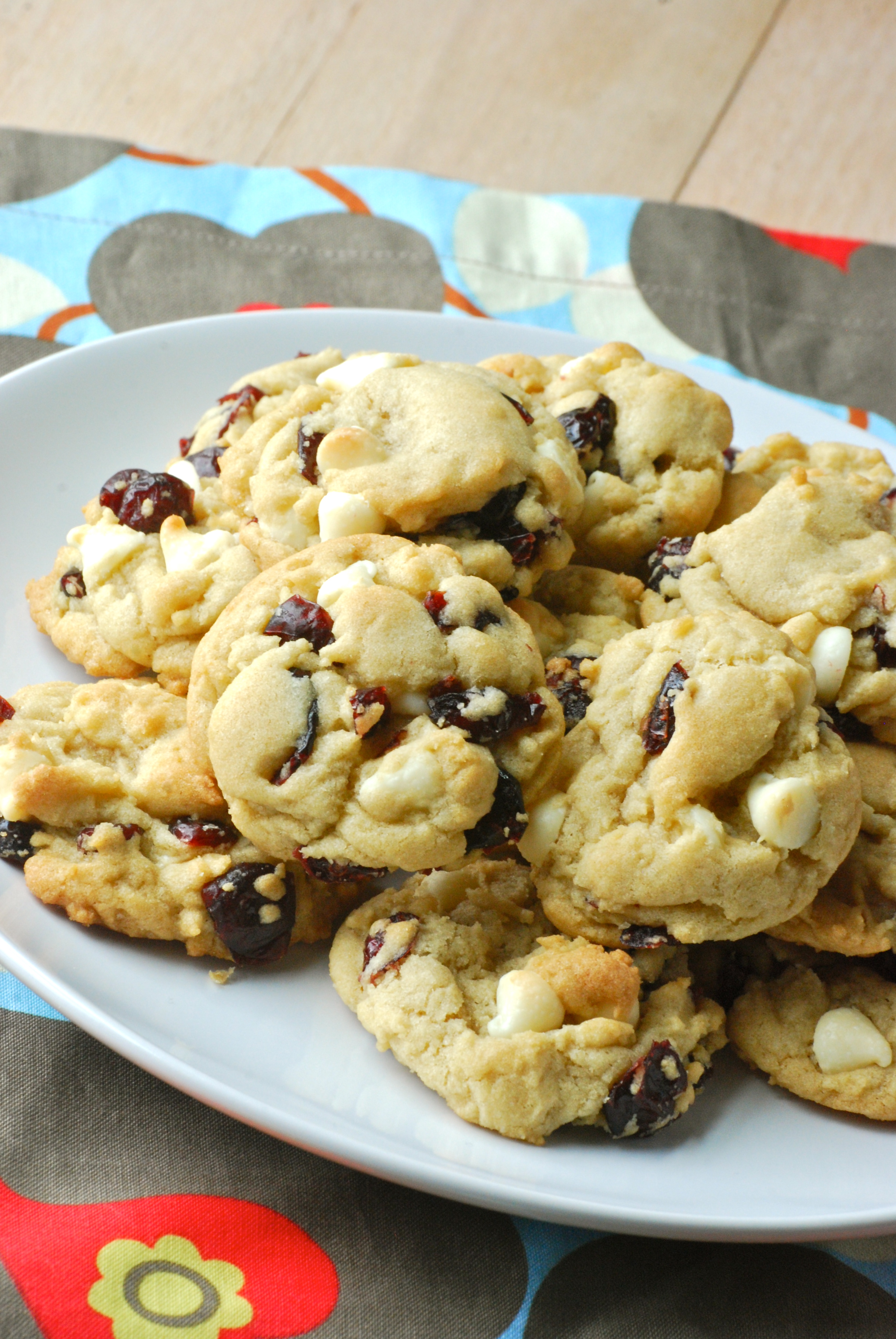 how to make white chocolate and cranberry cookies
