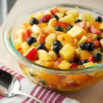 Glazed Summer Fruit Salad