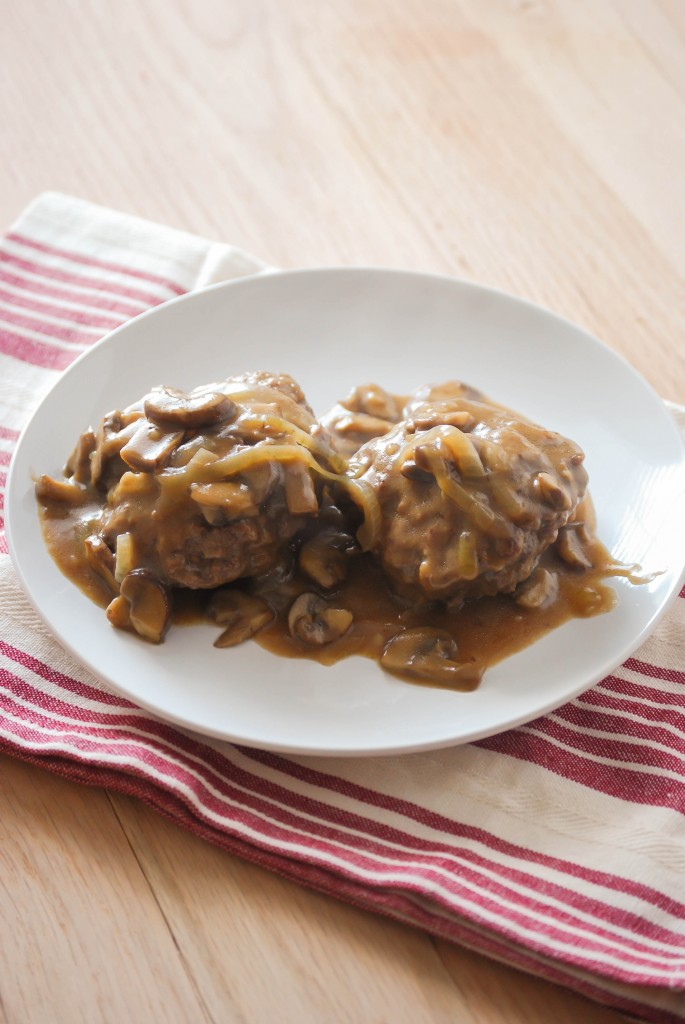 Hamburger Steak with Mushroom Gravy