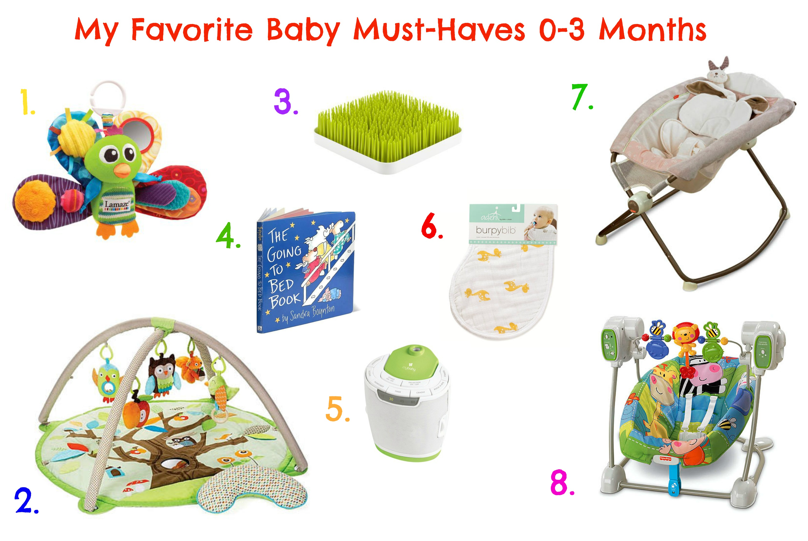 My Favorite Baby Must Haves 0 3 Months