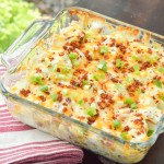 Cheesy Ranch Loaded Potato Casserole {Giveaway}