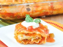 Chicken Enchilada Lasagna Roll-Ups