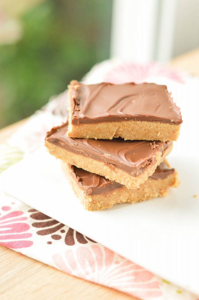 No Bake Chocolate Peanut Butter Bars (4 of 4)