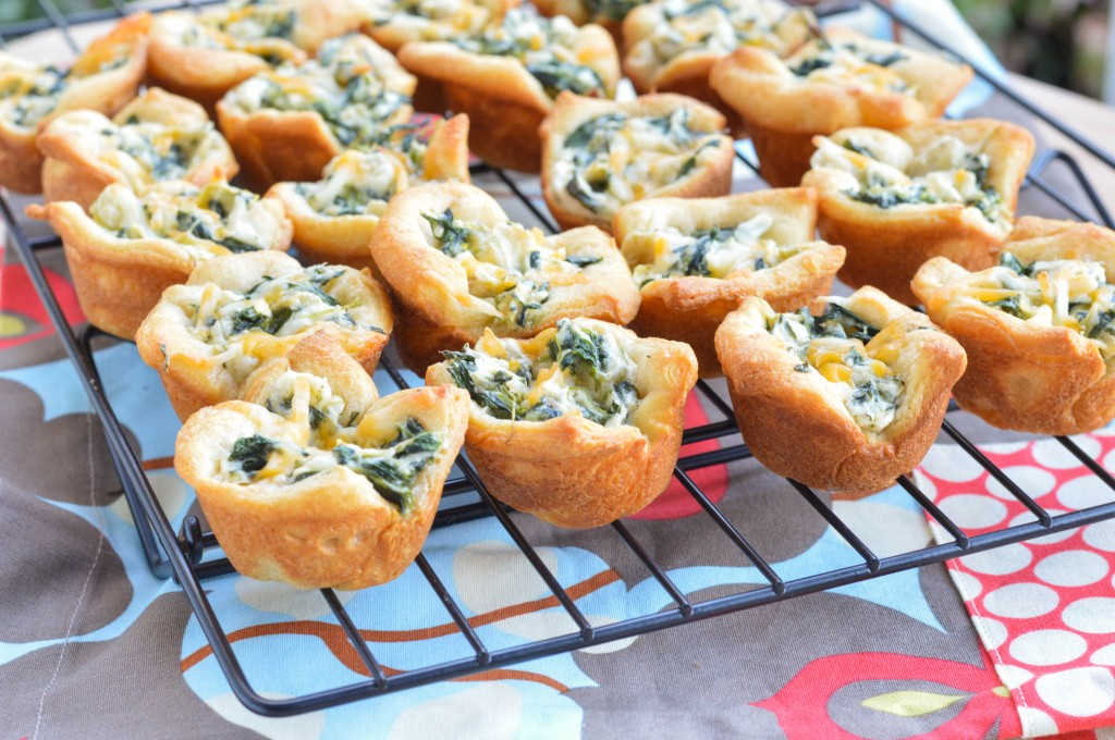 Spinach Artichoke Bites - Macaroni and Cheesecake