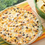 Hot Black Bean & Corn Dip
