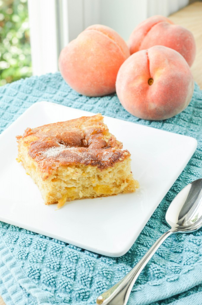 Fresh Peach Cake (1 of 2)
