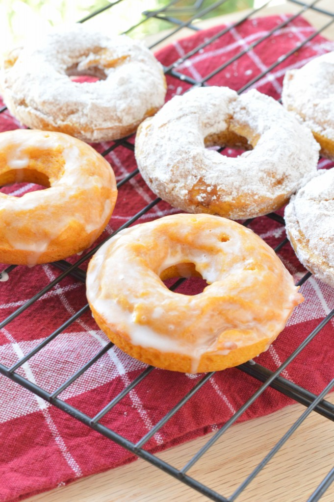 Pumpkin Donuts {Macaroni and Cheesecake}