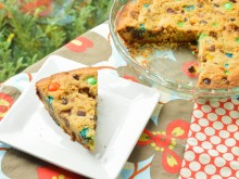 Chocolate Chip Candy Cookie Cake