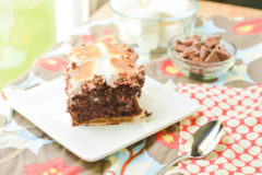 S'mores Poke Cake {Macaroni and Cheesecake}