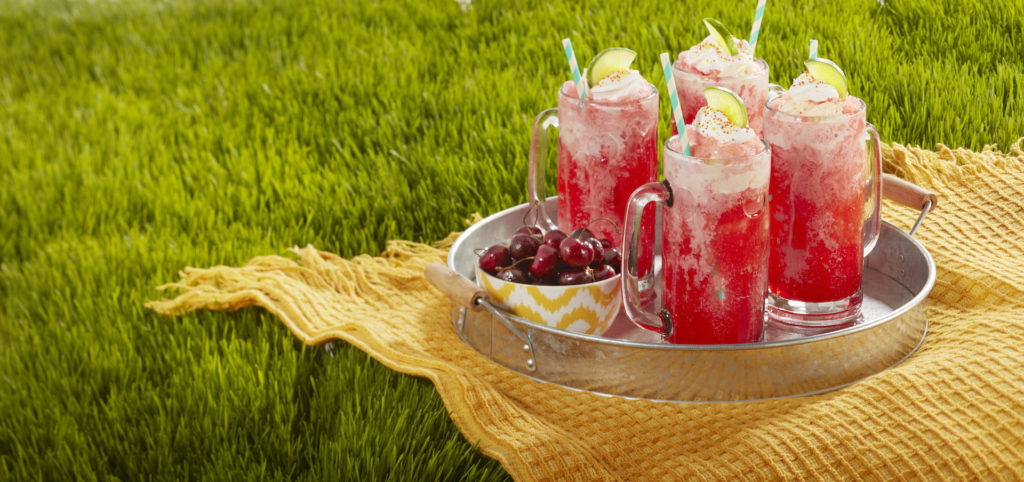 Sparkling Cherry Fro-Yo Float