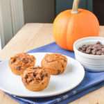 Three Ingredient Pumpkin Chocolate Chip Muffins