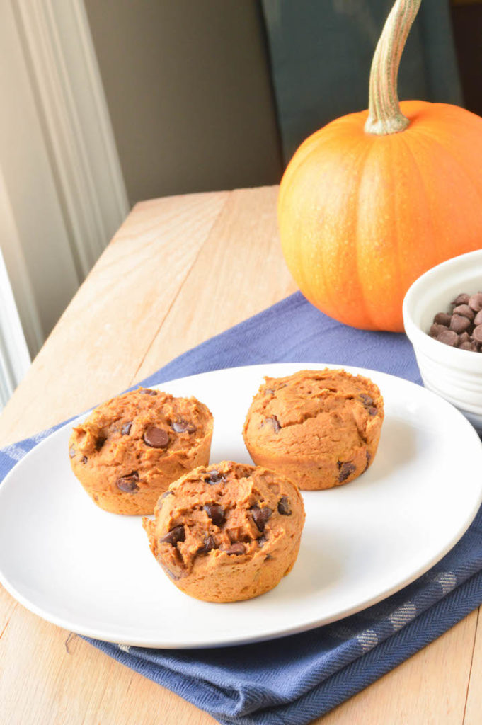 Pumpkin Chocolate Chip Muffins Made With Spice Cake Mix