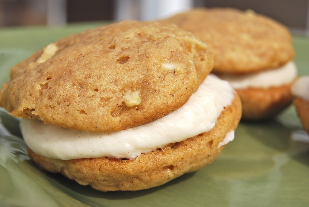 A close up of Apple Whoopie Pies